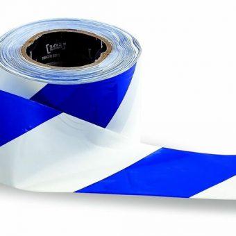 Barrier Tape – Blue on White