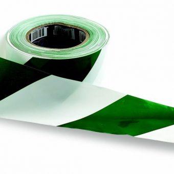 Barrier Tape – Green on White
