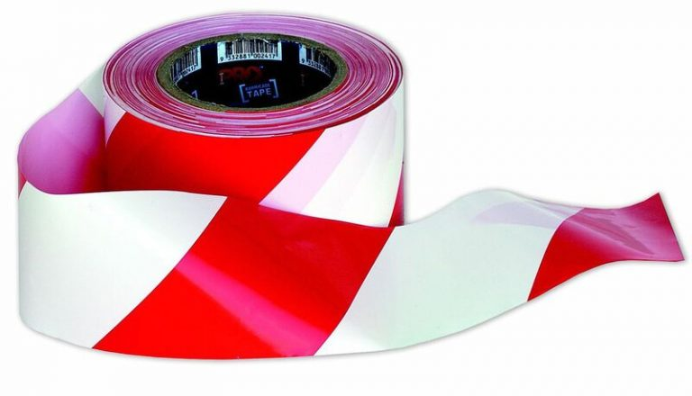 Barrier Tape – Red on White